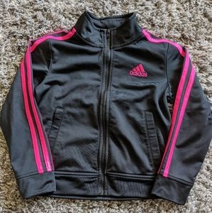 Adidas zip up jacket xs girls (6/6x)